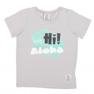 T-shirt HEY HI LIGHT GREY