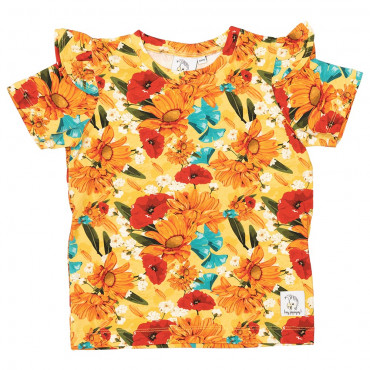 T-shirt with frills Yellow Meadow