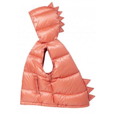 Dino Down Vest Pink