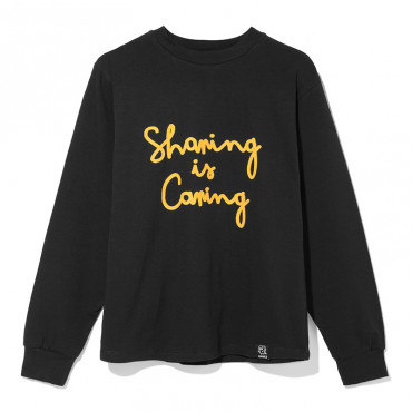 """Sharing is caring"" black longsleeve"