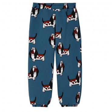 Blue Basset Loose Pocket Pants