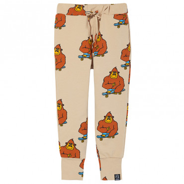 Beige Monkey Pocket Pants