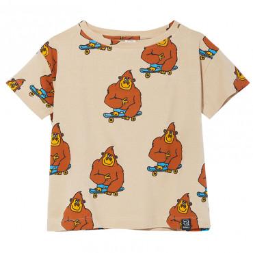 T-shirt Beige Monkey