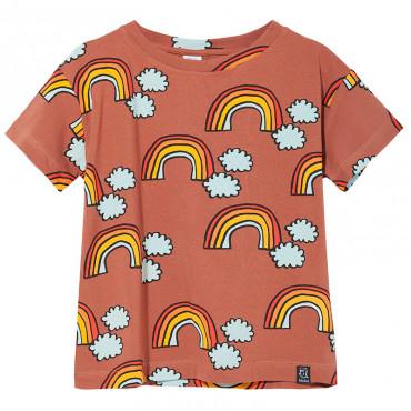T-shirt Brown Rainbow