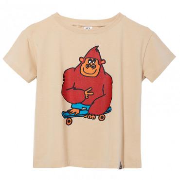T-shirt Beige Single Monkey
