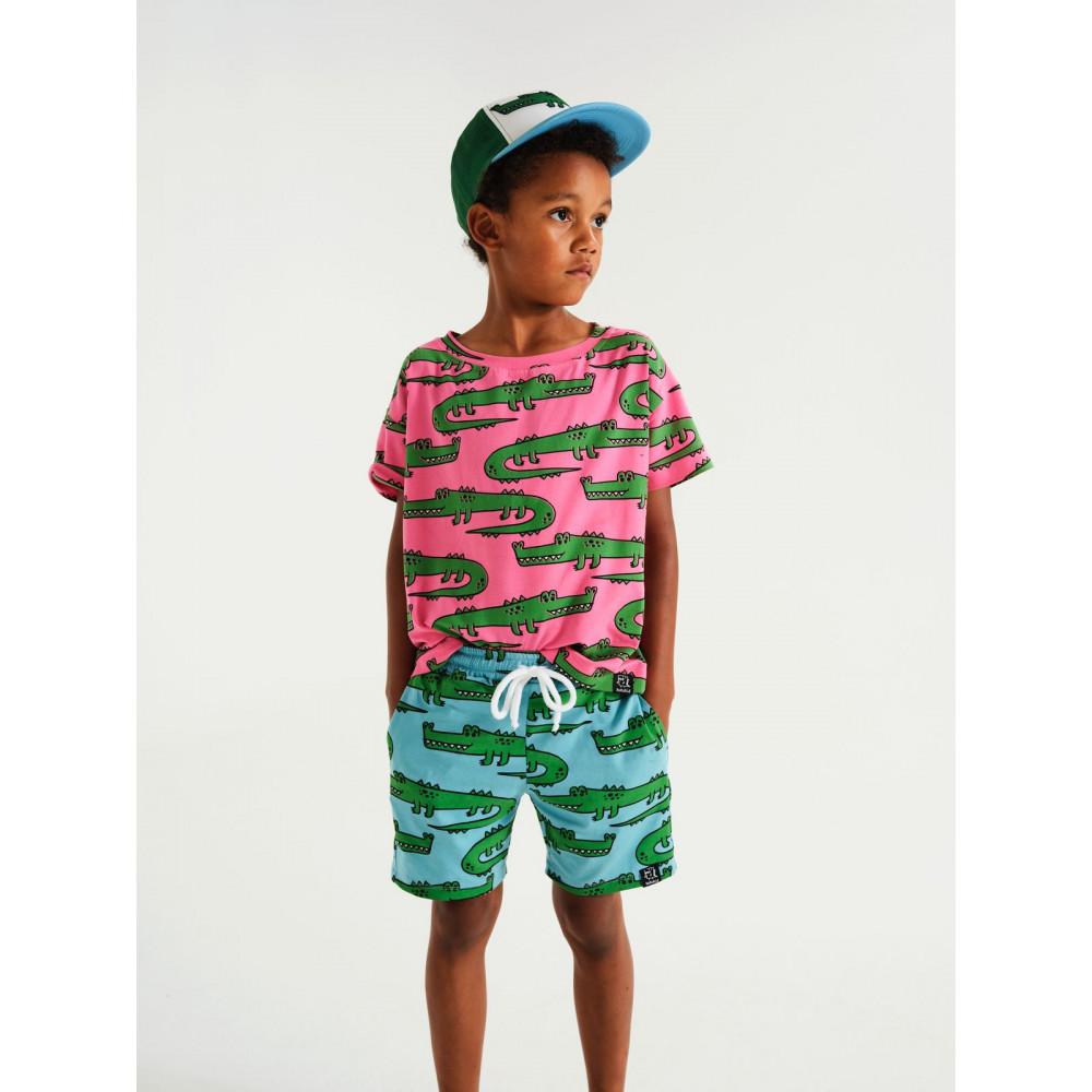 T-shirt Pink Crocodiles