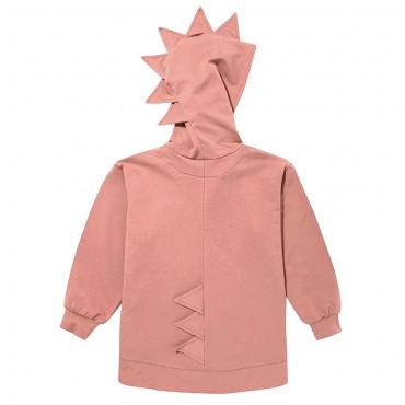 Dino Hoodie Cotton Pink