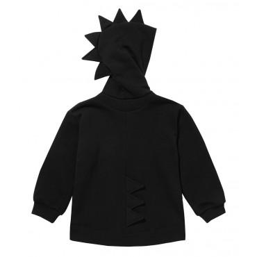 Dino Hoodie Cotton Black