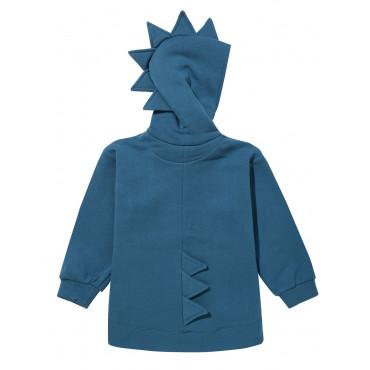 Dino Hoodie Cotton Blue