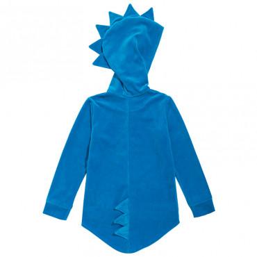 Dino Hoodie Velvet Blue