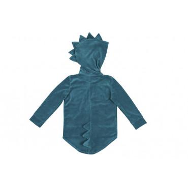 Dino Hoodie velvet turquoise
