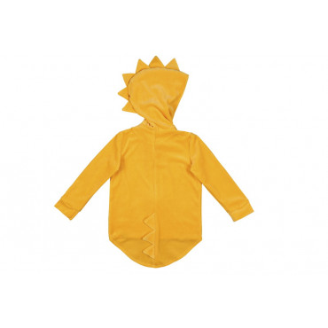 Dino Hoodie velvet yellow