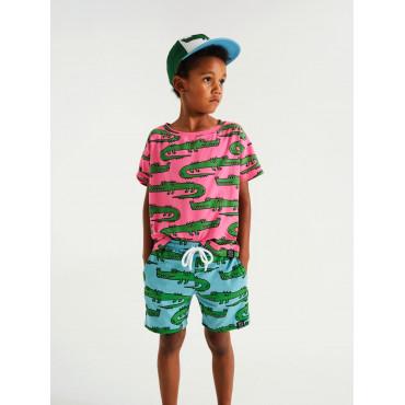 Blue Crocodiles Pocket Shorts