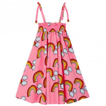 Pink Rainbow Shoulder Strap Dress