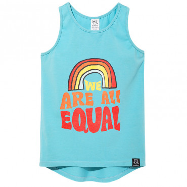 """""""We are all equal"""" Blue Tank-Top"""