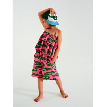 Pink Crocodiles Frill Tank-Top