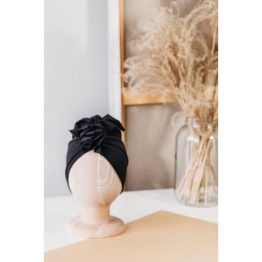 Merino Black Turban