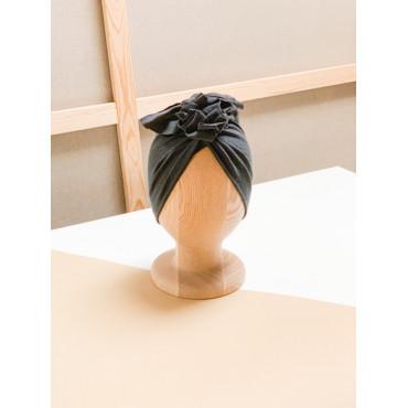 Merino Charcoal Turban