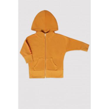 Mustard Minikid Logo Hoodie with zip