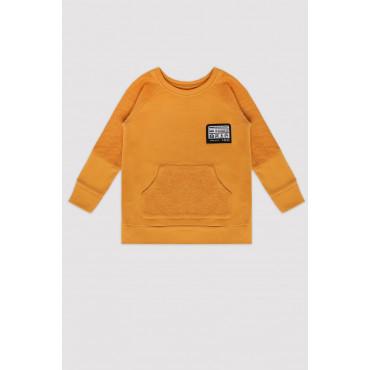 Mustard Minikid Logo Sweatshirt