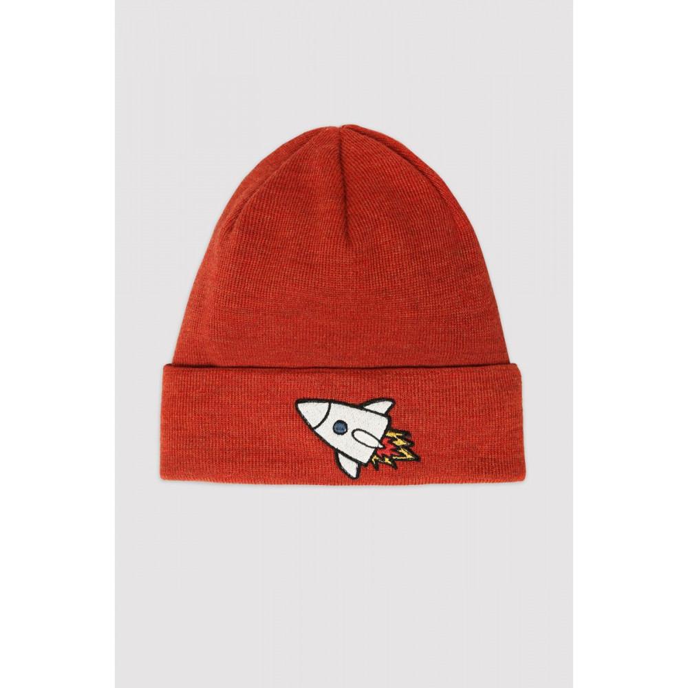 Dark Orange Rocket Hat