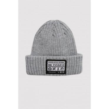 Ribbed Grey Hat