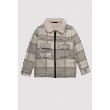 Fur Jacket Checkered