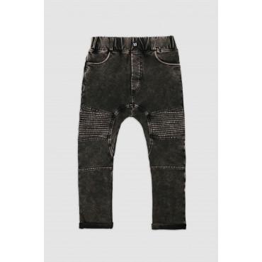 MARBLE BLACK BIKER PANTS