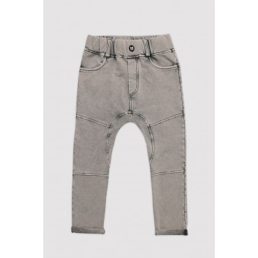 Marble Grey Straight Pants